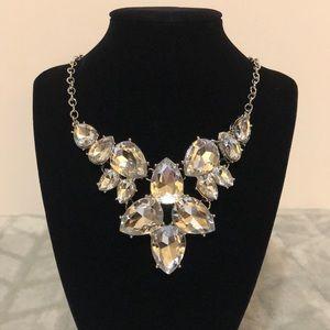 Jewelry - NWOT ~ Silver Gemstone Statement Necklace